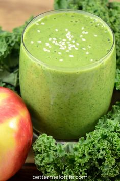 Sesame Apple Green Smoothie by Better Me for Life. The flavors in this sesame apple green smoothie make a refreshing summer meal. It's cool, light and refreshing - and is packed with health benefits. Find the recipe on BetterMeforLife.com Find the recipe on BetterMeforLife.com