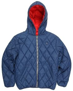 Lacoste Kids - Boys' Reversible Lightly Padded Jacket (Little Kids/Big Kids) (Ship/Ladybird) - Apparel $155.00 thestylecure.com