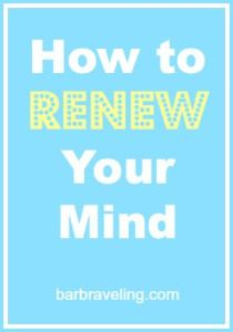 The renewing of the mind is one of those things we know we're supposed to do, but how do we do it? In this post we'll talk about some tips to help with the discipline.