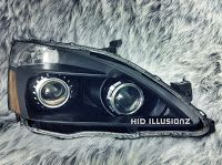 HID ILLUSIONZ: Honda Accord Mini H1 FX35 Mini Minigun E46 Quad Setup HID Retrofit Headlights
