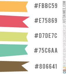 SO many color palettes by JustJaimee! LOVE!
