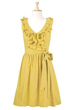 Ruffle front poplin dress.  Love love love this.  I have plenty of weddings I could wear this to this summer.