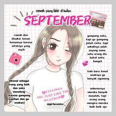 "GIRLS? KLIK FOLLOW❣️ di Instagram ""true? tag temen kamu yang lahir bulan september!"" September Quotes, Quotes From Novels, Self Reminder, Muslim Quotes, Tumblr Quotes, Virgo, Fangirl, Zodiac, Knowledge"