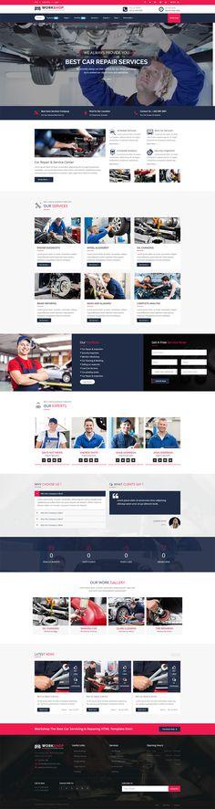 Workshop- Car Repair, Car Wash & Car Servicing HTML5 Template, Corporate Business