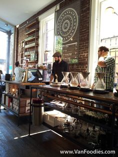 We love independent coffee houses like this one! #dreamkitchendesign