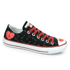 Tenis All Star Ct As Print Love Keys Ox - Preto
