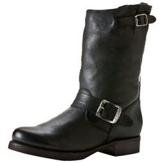 Pre-owned Frye Veronica Short Black Boots ($155) ❤ liked on Polyvore featuring shoes, boots, black, narrow shoes, frye, narrow boots, short boots and pre owned shoes