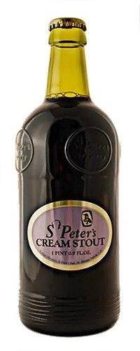 Cerveja St Peter's Cream Stout, estilo Dry Stout, produzida por St. Peter's Brewery , Inglaterra. 6.5% ABV de álcool.