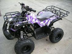 Purple four wheeler. Mmm!