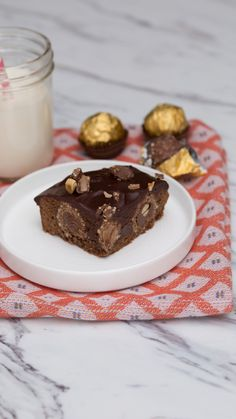 What's not to love about fudgey brownies stuffed with your favorite nutty chocolate candy?
