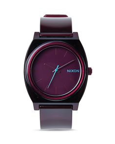 Nixon Time Teller Translucent Burgundy Watch, 40mm