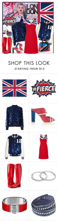 """""""#9 - Happy New Year @London"""" by sylandrya ❤ liked on Polyvore featuring Rimmel, Zone, Ashish, Malone Souliers, Louis Vuitton, Armani Jeans and Swarovski"""