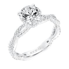 Lovely new style from Artcarved bridal! www.mcgeejewelers.com