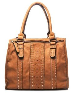 Lillian Top Handle Studded Bag Cognac....no way this bag is $14.80....where has this site been all my life???