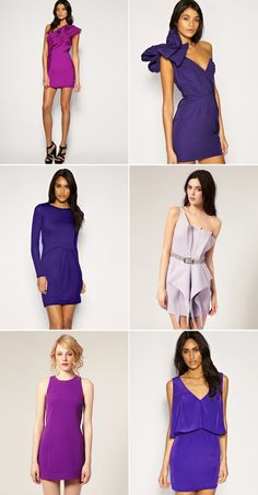 This colour is ridic chic. Tie it in with greys, pinks or blues. Best done with a rocking cocktail dress and sharp shapes, a la these pretty little numbers.
