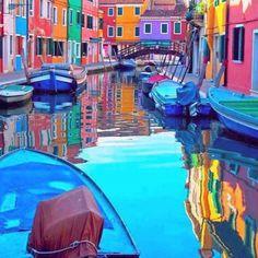 Isla de Burano, Venecia.