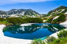 <君の名は>場景,ミクリガ池に映る立山連峰/富山県 中新川郡 立山町