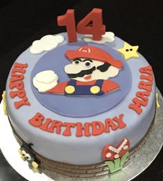 Super Mario themed birthday cake!