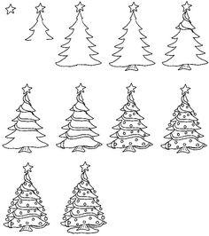 disegno07_alberonatalejpg 300338 christmas doodles christmas cartoons cartoon christmas - How To Draw A Christmas Tree Step By Step