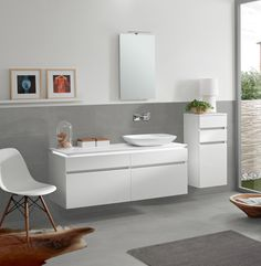 Legato bathroom furniture. Learn more here: www.vibo.info/furniture