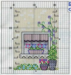 side - 3D cross stitch house. Pin 3 of 5