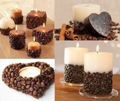 Coffee-Bean-Candle-Holders - Your coffee bean candle holder is ready to throw a magic of aromatic candle never sense before. #candlemakingtips