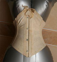 1890s ribbon corset