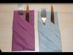 ᴴᴰ Paper Napkin Folding ~ Basic Pouch in 1 minute ~ 6 Simple, Easy & Quick Steps! (How-to / DIY) - YouTube