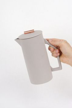 850 mL Ceramic French Press. Brew perfect, full-bodied coffee in the traditional french press method. This heavy walled ceramic press pot is a functional and beautiful addition to your kitchen table. Copper Handles, Kitchenware, Tableware, Shops, Gifts For Cooks, Ceramic Pitcher, Coffee Is Life, French Press, Home Deco