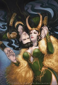 (Disclaimer!! Not my own work!! Please visit Deviantart for the original artist.) Lady Loki about as fabulous and gorgeous as Loki himself? Probably.
