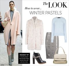 See how to wear winter pastels on #ShopBAZAAR Editor's Blog.