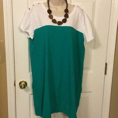 "NWOT Nicole Miller New York XXL TEE SHIRT DRESS New without tags 100% cotton .measures 46"" bust..34"" length Nicole Miller Dresses Mini"