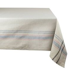 Everyday French Stripe Kitchen Tablecloth : This is my second tablecloth from DII and the quality is just as nice as the first one. This one has a subtle stripe pattern which is nice for every day use. I will definitely be using this for our daily use and looking for other colors in the same brand. Click for more..