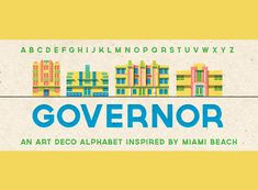 Una de las muchas tipografias vintage basadas en Miami.