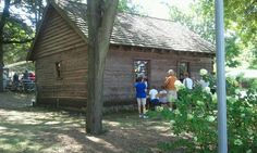 Log cabin @ iowa state fair