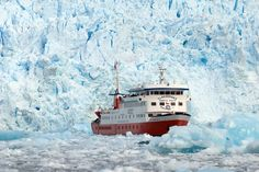 Visit Patagonia's incredible glaciers, a guide to how to see the glaciers. Ice-hiking, cruises, day-trips to see Perito Moreno, Upsala & Grey Glaciers In Patagonia, Fjord, Whale Watching, Nice View, Day Trips, Worlds Largest, The Incredibles, Adventure, Travel