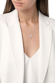 Monica Vinader Sterling In Silver Silver Pendant Necklace, Silver Necklaces, Arrow Necklace, Jewelry Necklaces, Michael Kors Shoulder Bag, Silver Diamonds, Necklace Designs, Women Accessories, Fine Jewelry