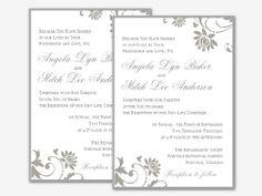 Editable Microsoft Word Floral Wedding Invitation  by Digidigi, $12.00
