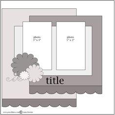 2 photos scrapbook page sketch