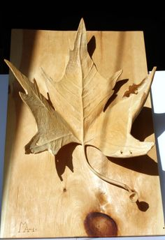 Plane tree leaf by alecswoods on Etsy, $590.00