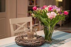 Wiosenne dekoracje na stole