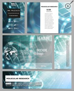 Science Brochure Or Flyer Templates By Vectorshop On