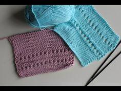 """Вязание спицами: простой,ажурный узор """"мережка"""""""