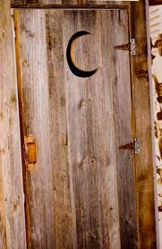 There is no standard for door design for an outhouse. The well-known crescent & outhouse door | heidi-brandt-crescent-moon-outhouse-door.jpg ... Pezcame.Com