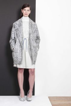 ARMANDO TAKEDA 2015-16AW LOOK16 #coat #dress