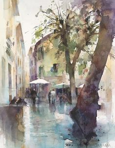 雨上がりのSaint-paul-de-Vence