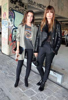 Classic toned down Parisian dressing. #CarolineDeMaigret #PFW