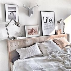Sweet dreams✨Lovely bedroom by Scandi Bedroom, White Bedroom, Bedroom Decor, Country House Interior, Hygge Home, Aesthetic Rooms, Home Decor, Inspiration, Furniture