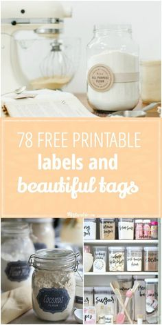 Organize and enrich your life with these 78 Free Printable Labels and Tags! via @tipjunkie
