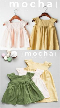 40 Adorable DIY Baby Clothing Patterns You Can Sew At Home - Comprehensive collection of DIY baby clothes that can easily be sewn at home. Includes hand sewn baby leggings and pants, dresses, onesies, and more. Source by baby clothes Baby Girl Dress Patterns, Baby Clothes Patterns, Sewing Patterns Girls, Clothing Patterns, Baby Dress Tutorials, Skirt Patterns, Coat Patterns, Blouse Patterns, Vintage Girls Dresses